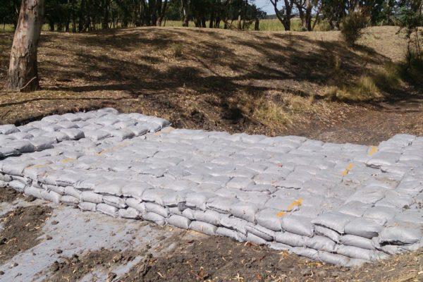 stream-restoration-_-sand-bag-weir_western-victoria